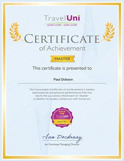 Travel Uni Master Certificate
