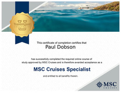 MSC Cruises certificate.JPG