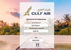 Gulf Air Certificate