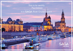 SAGA River Cruise Expert Certificate