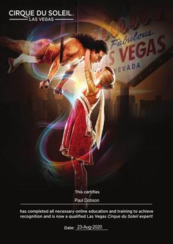 Cirque du Soleil (Las Vegas) Certificate