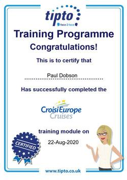 CroisiEurope Cruises Certificate