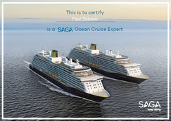 SAGA Ocean Cruise Expert Certificate