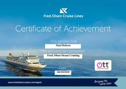 Fred. Olsen Certificate