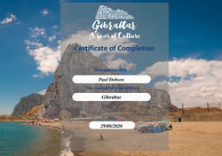 Gibraltar Certificate