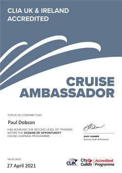 CLIA - Ambassador Certificate - 2020