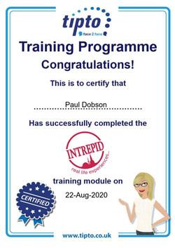 Intrepid Certificate