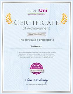Travel Uni Postgraduate Certificate