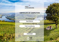 Visit Luxembourg Certificate