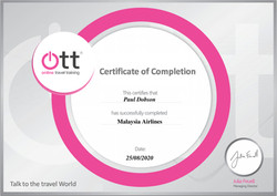 Malaysia Airlines Certificate
