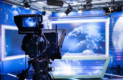 Video camera - recording show in TV stud