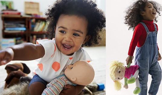 Black girl, white doll