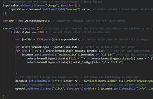JavaScript Projektarbete