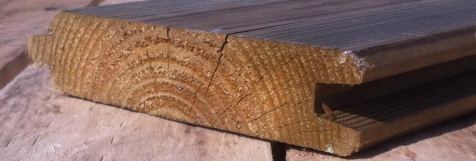 Planche rabotée rainure languette chalet