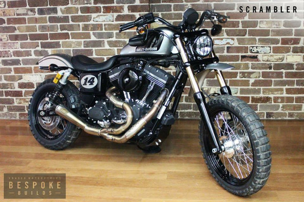 Custom Harley-Davidson scrambler