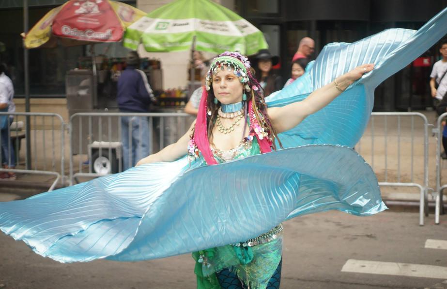 Blue Fan Dance