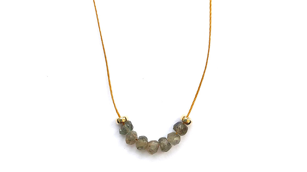 labradorite floating bead necklace