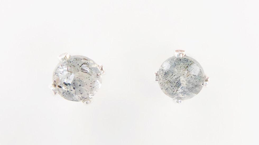 labradorite sterling silver ear studs