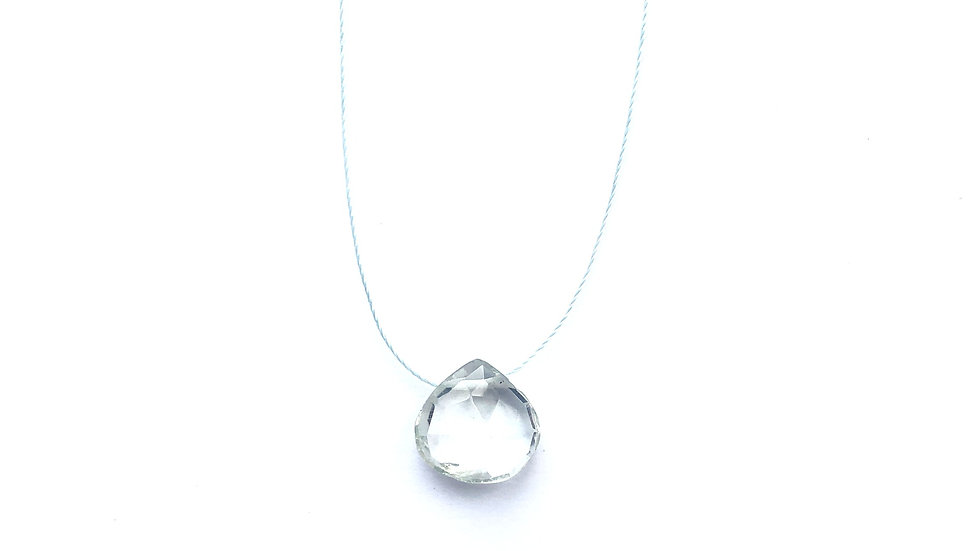 green amethyst fine cord necklace