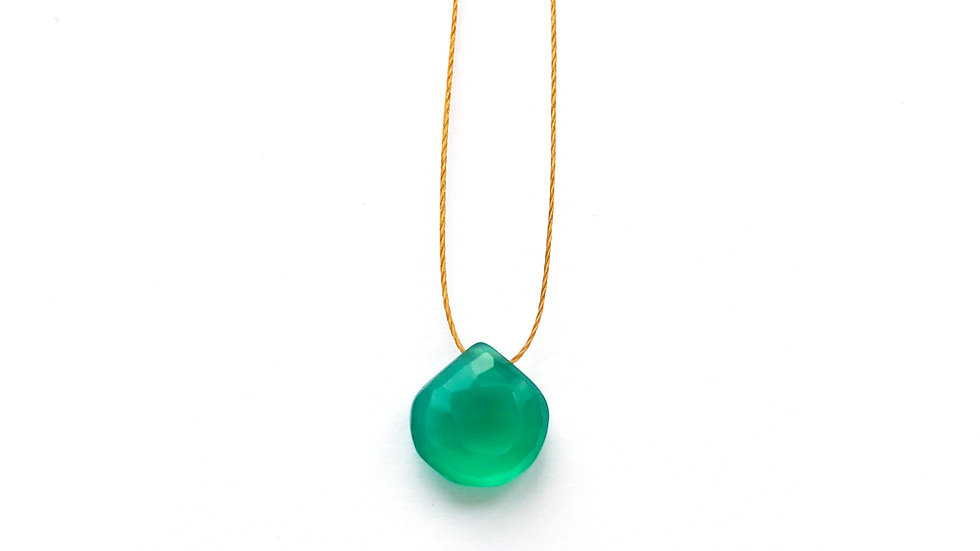 green chalcedony briolette necklace