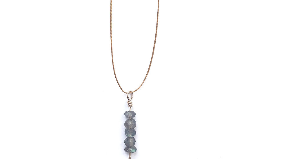 labradorite bead pendant necklace