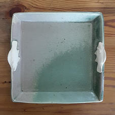 Square and Oval Platter with Sealife