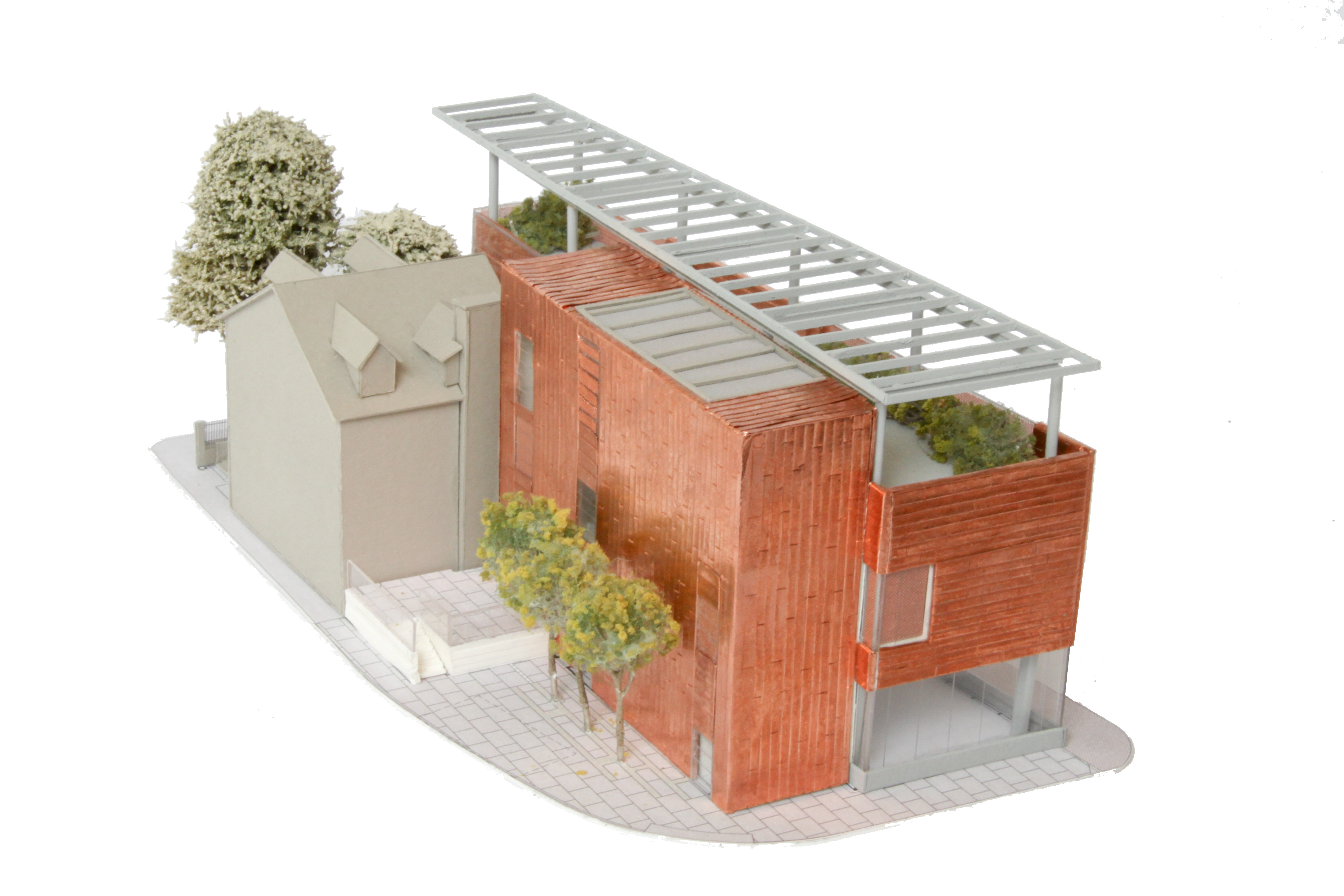 MGH Museum: Model View from NW