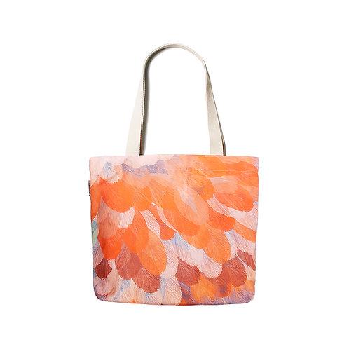 Feather Orange Shoulder bag