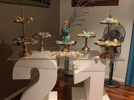 21st Celebrations - Dessert table