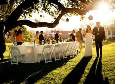 Летний свадебный банкет