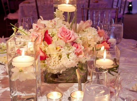 Использование цветов в оформлении свадебного зала