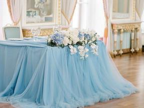 Романтичная свадьба в голубом цвете