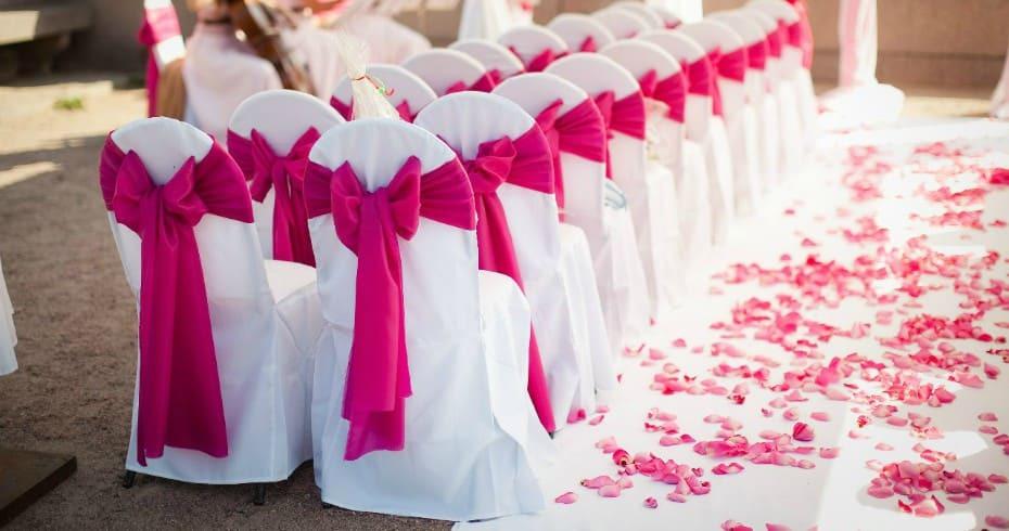 Яркая Малиновая Свадьба