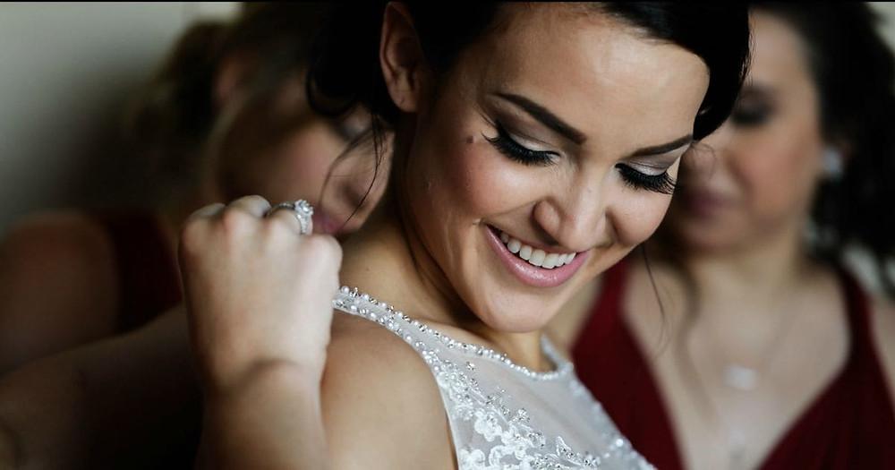 Bride Getting Ready For A Wedding