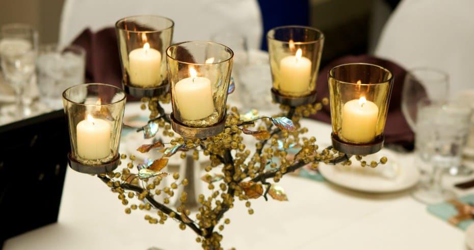 Украшаем Свадебные Подсвечники Своими Руками