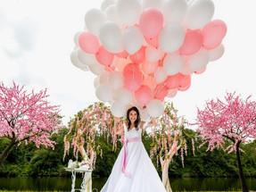 Украшение свадьбы воздушными шарами - современные идеи