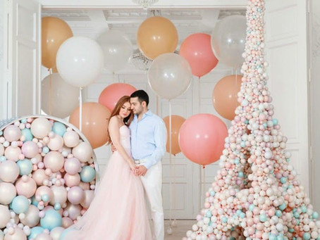 Оформление свадьбы воздушными шарами - идеи по оформлению