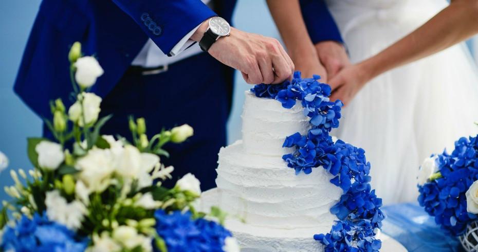 Как Оформить Свадьбу В Синем Цвете
