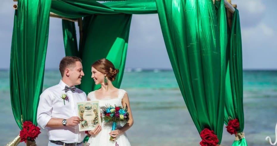 Свадьба В Зелёных Тонах