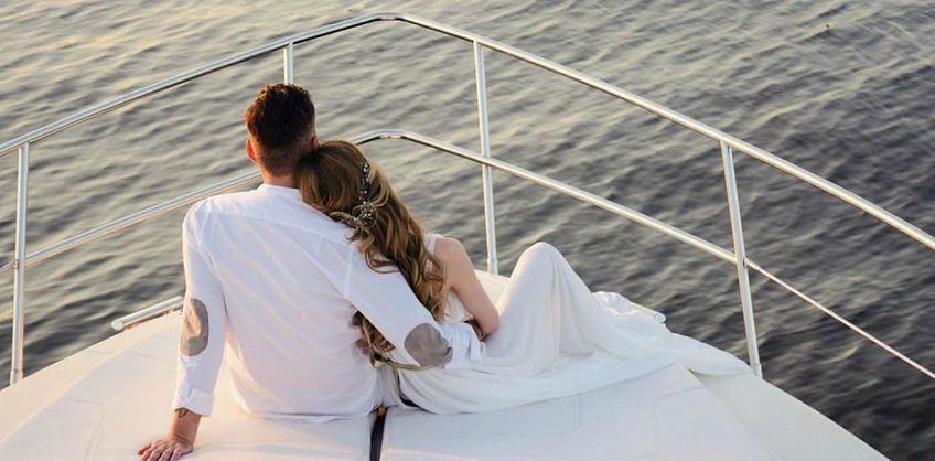 Романтичная Свадьба На Яхте Дубай