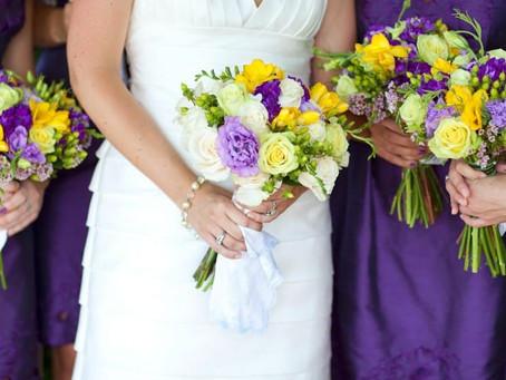 Фиолетово-жёлтая свадьба - оригинальное сочетание