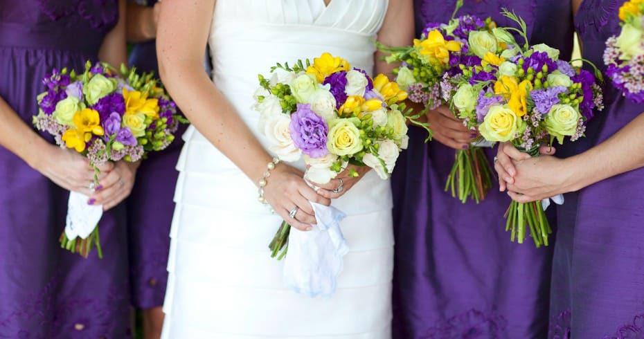 Фиолетово Жёлтая Свадьба
