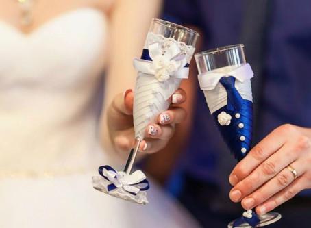 Как выбрать бокалы на свадьбу