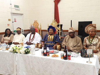 Royal Reception for HRH Oba Anthony Bamigbaiye Idowu- The Olu-Adde of Ekirine-Adde Land