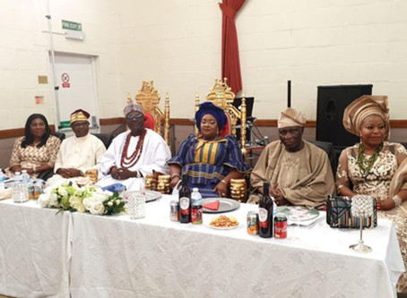 Royal Reception for HRH Oba Anthony Bamigbaiye Idowu- The Olu-Adde of Ekirine-Adde Land