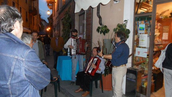 Locals having fun pLaying live music