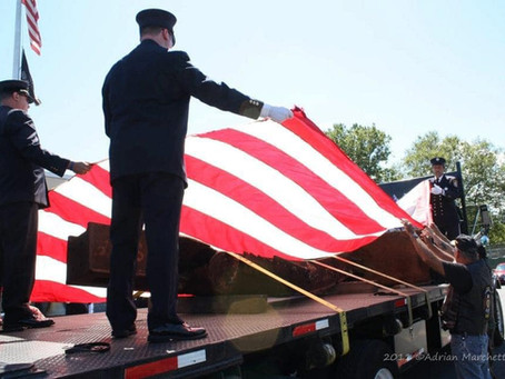 10 Years ago today the FSMFD received a piece of the World Trade Center