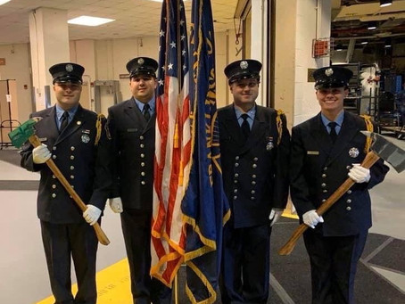 FSMFD Color Guard at the New York Rangers Game