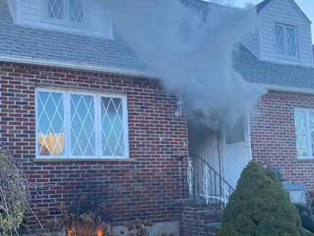 FSMFD Members operating at a Basement fire on Ardsley Blvd. 1/30/2021
