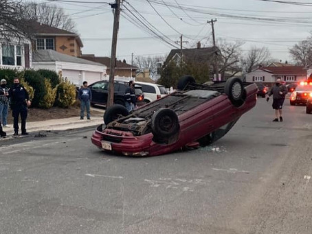 FSMFD Responded to an Overturned Car on Plain Ct.